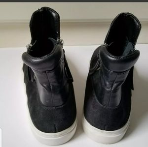Zara Shoes - Zara Woman High Top Sneakers Leather Suede Black